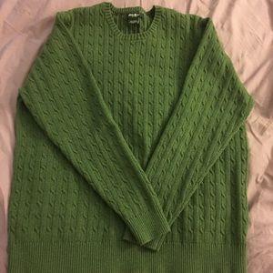 EUC Eddie Bauer earthy green long sleeve sweater